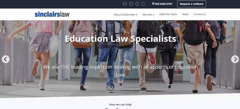 Sinclairslaw Delighted to Launch New Website